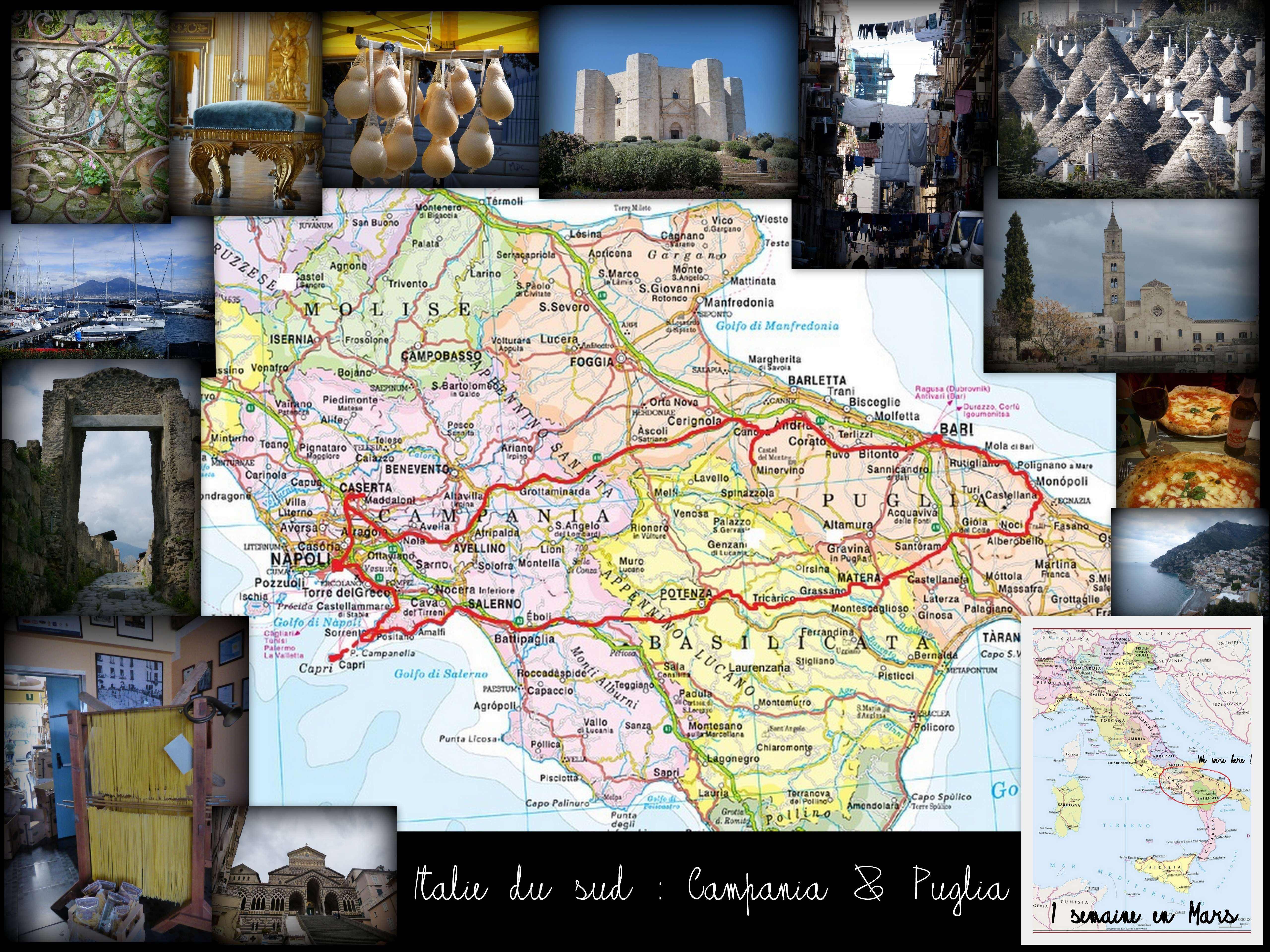 italie sud naples itineraire roadtrip 1 semaine