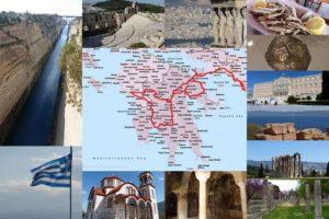 grece 1 semaine peloponnese roadtrip carte itineraire