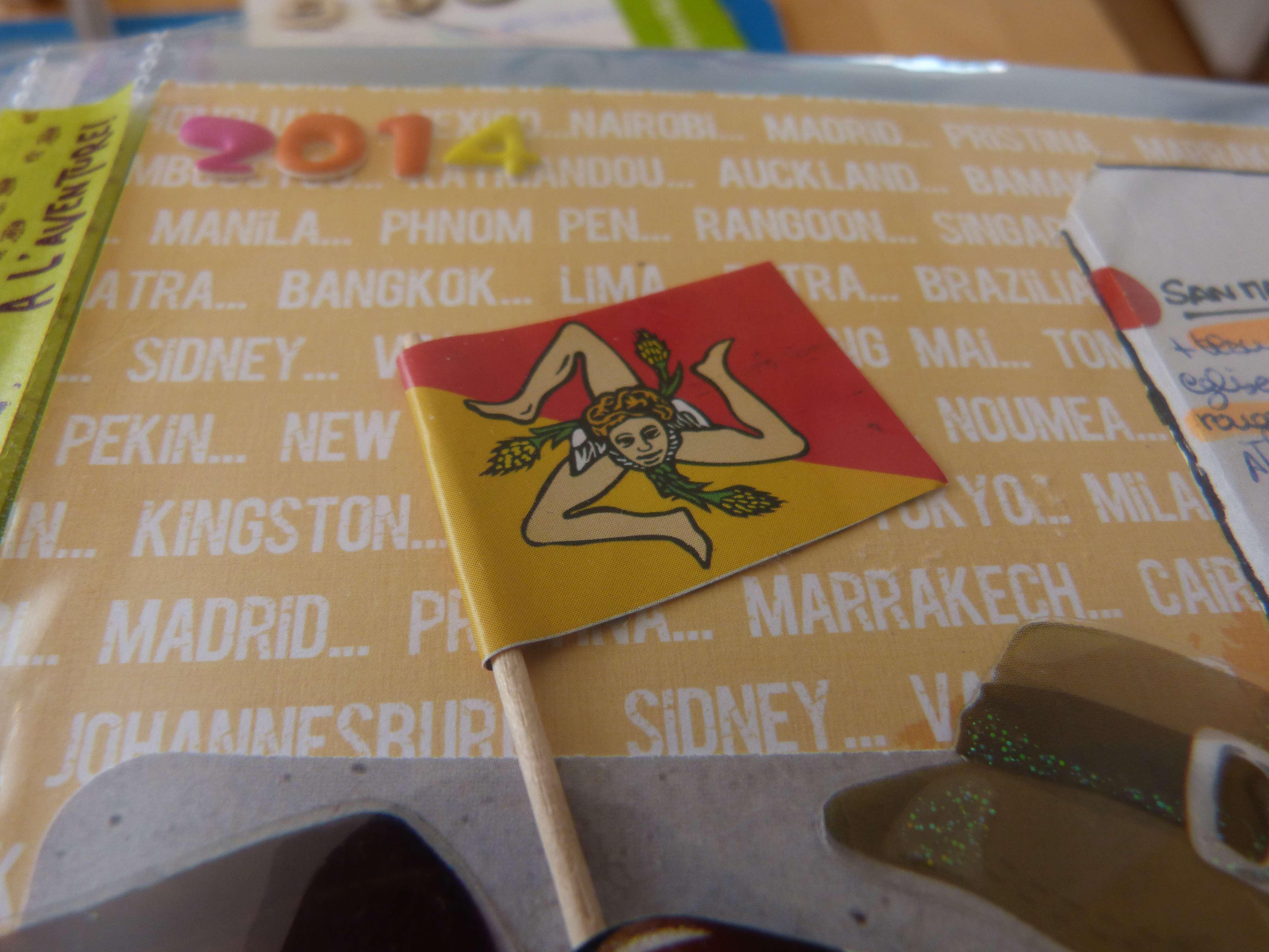 Album scrapbooking scrap Sicile voyage itineraire