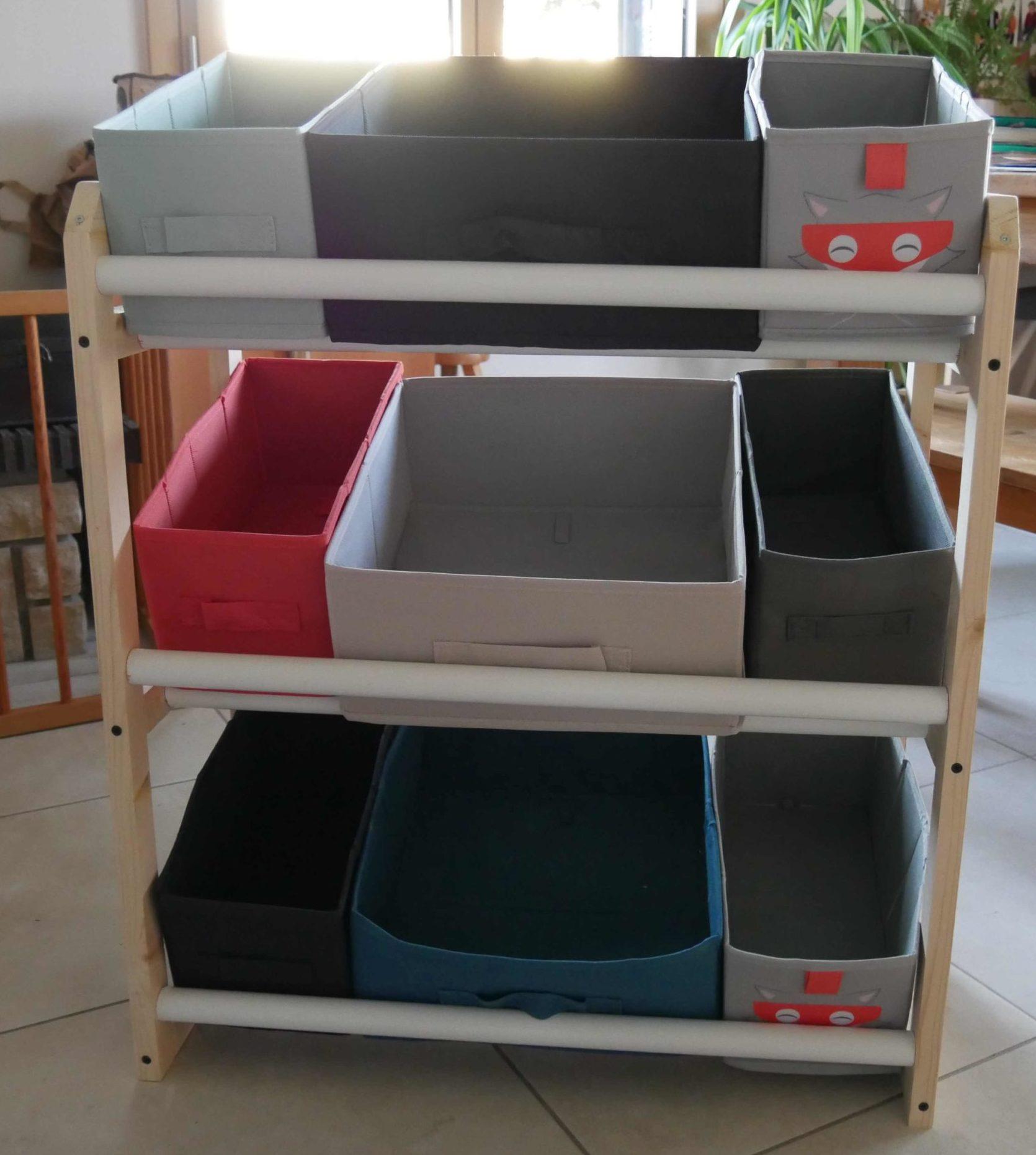 DIY meuble rangement jouets enfants