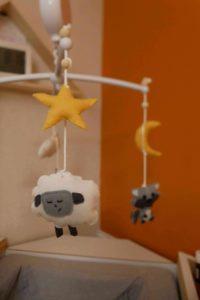 DIY MOBILE FEUTRINE mouton animaux