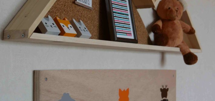 DIY PATERES ANIMAUX STICKERS BIBLIOTHEQUE MURALE MONTAGNE