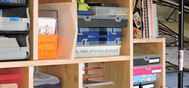 DIY bibliotheque scraproom stayfunnyandcreate