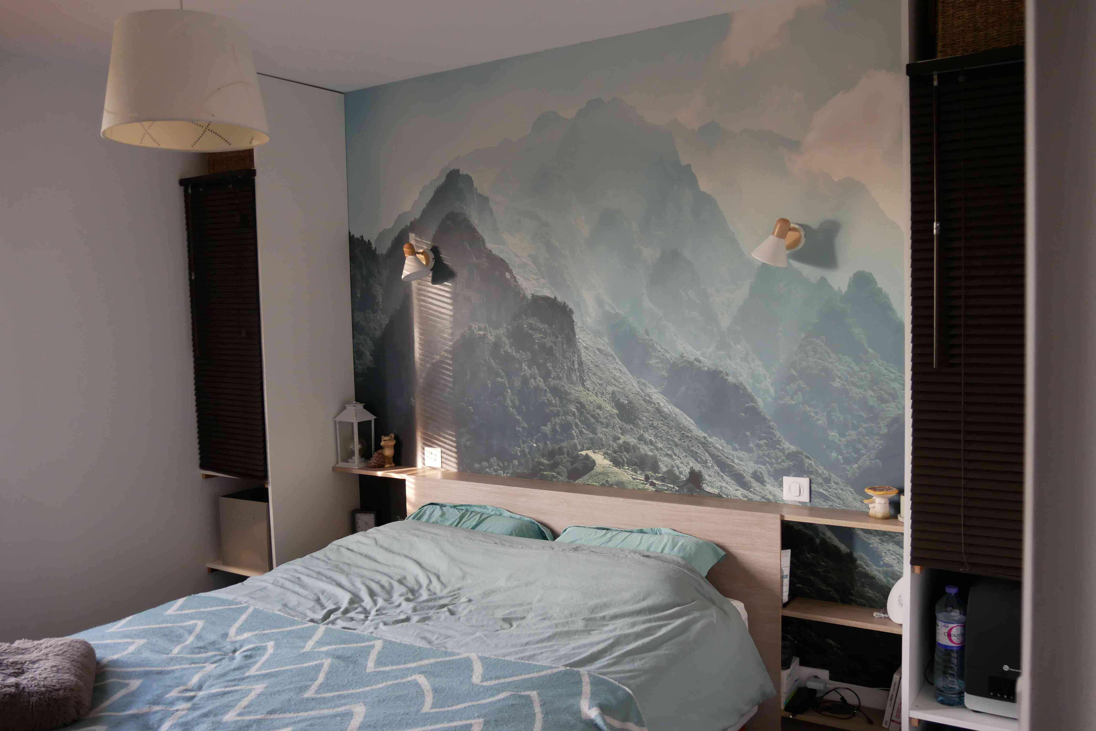 chambre décoration nature poster xxl tete de lit
