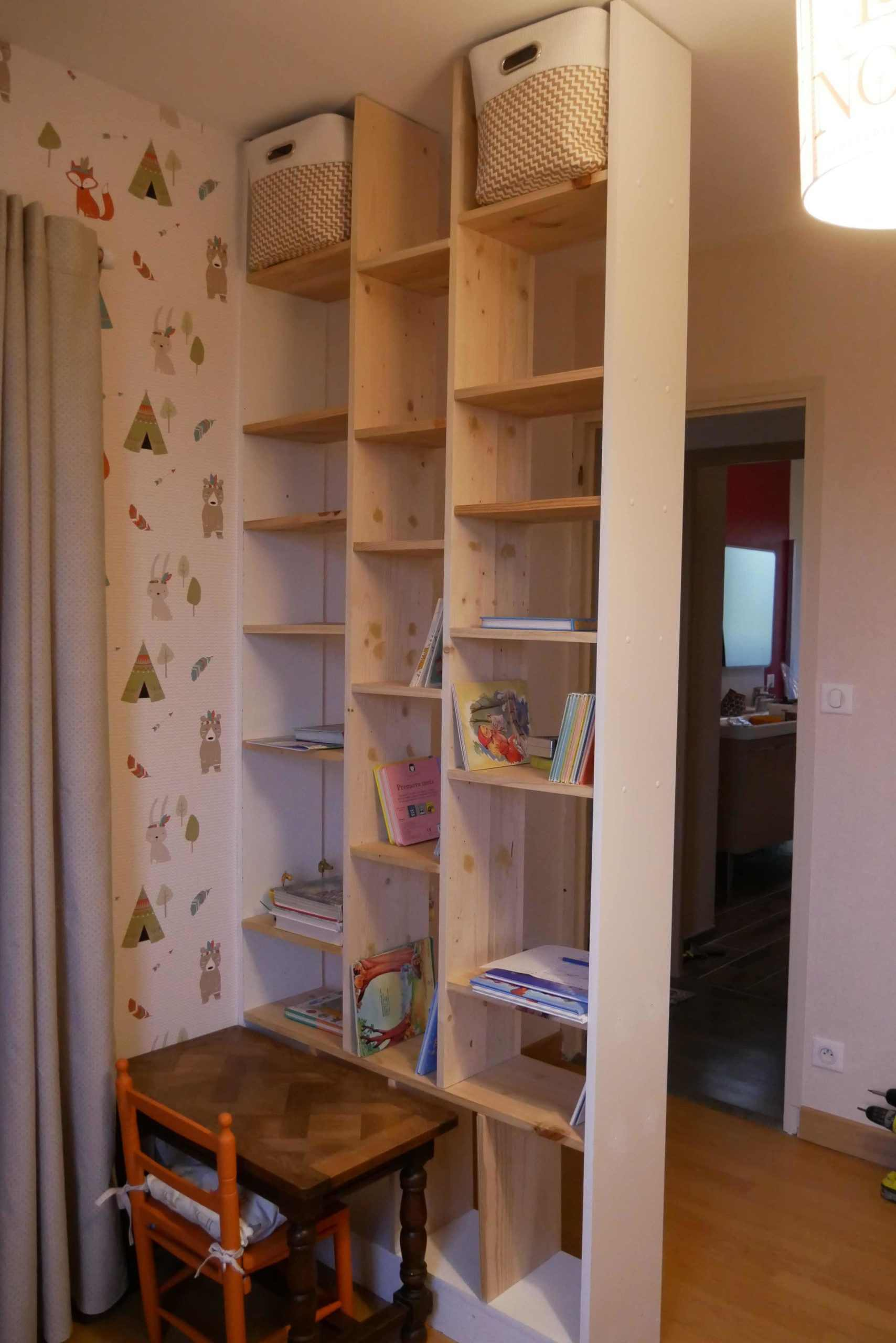 DIY bibliotheque cloison stayfunnyandcreate
